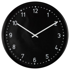 Black Analog Clock